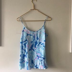 Lilly Pulitzer Blue Jellyfish Tank Top